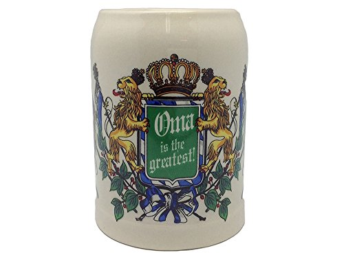 Ceramic Beer Stein German Gift For Oma (.5 Liter Large Beer Stei