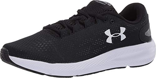 Under Armour Women's Charged Pursuit 2 Running Shoe, Black (001)/White, 9 M US
