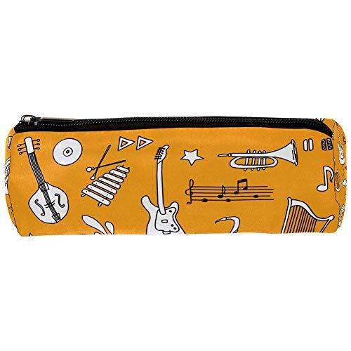 Shiiny Handgezeichnetes Musik-Utensilien-Set, Federmäppchen, Beutel mit Reißverschluss, kleine einfache Bleistifttaschen, langlebige Schreibwaren für Jungen und Mädchen