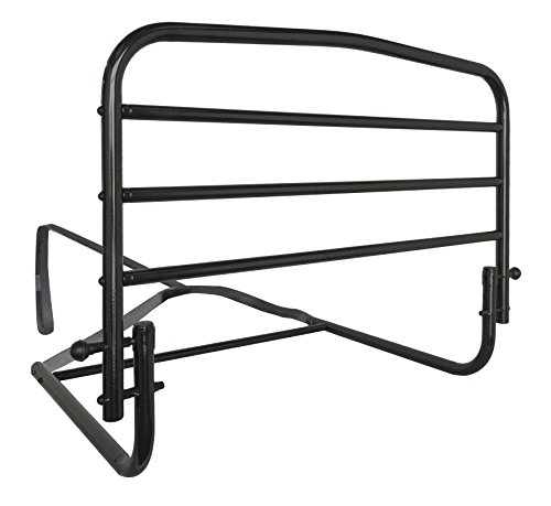 Stander 30' Safety Adult Bed Rail - Home Elderly Bedside Safety Rail + Swing Down Assist Handle