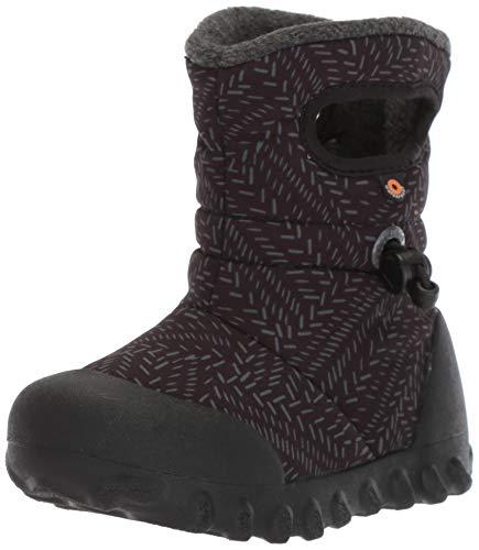 BOGS Baby B-Moc Waterproof Insulated Kids Winter Boot, Fleck Print/Black/Multi, 4 M US Toddler