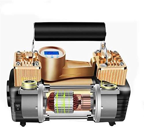 Fahrradluftpumpe Auto Fahrräder Reifen Inflator tragbare Mini-Auto-Luftpumpe Digitalanzeige 12v Luftpumpe wird im Auto benutzt und Motorrad-Inflator Auto-Fahrrad und anderen Reifen (Farbe: Schwarz,