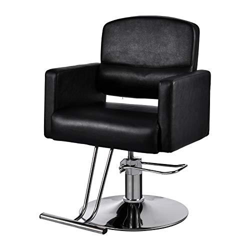 Sedia da Parrucchiere con Pompa Idraulica Finta Pelle per Barbiere SPA Salone di Bellezza