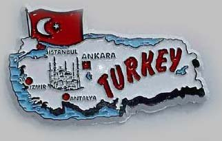 Flagline Turkey - Country Magnet