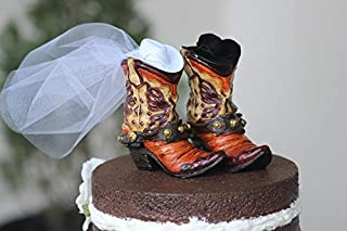 Western Boot Cake Topper shabby chic, outdoor, cottage chic