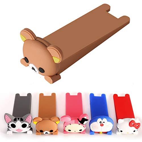 Perday - Tope de puerta de animales, de goma, adecuado para azulejos, suelos de madera, alfombra, puerta de cristal, para habitación infantil, alféizar de baño, 5 unidades