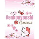 Genkouyoushi Notebook: Japanese Writing Practice Book : Large Japanese Sakura Themed Genkouyoushi Paper Notebook to Practise Writing Kanji Characters and Kana Scripts (Katakana and Hiragana) with Cornell ruled lines for your notes.