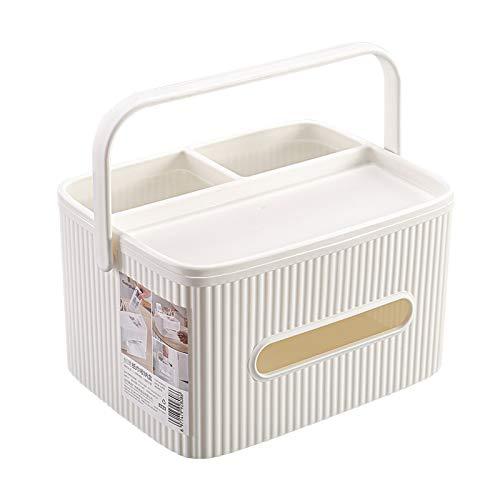 Caja de pañuelos de almacenamiento multifuncional, sala de estar, mesa de café, mesa de comedor, caja de almacenamiento de cajón portátil para servilletas simple y creativa