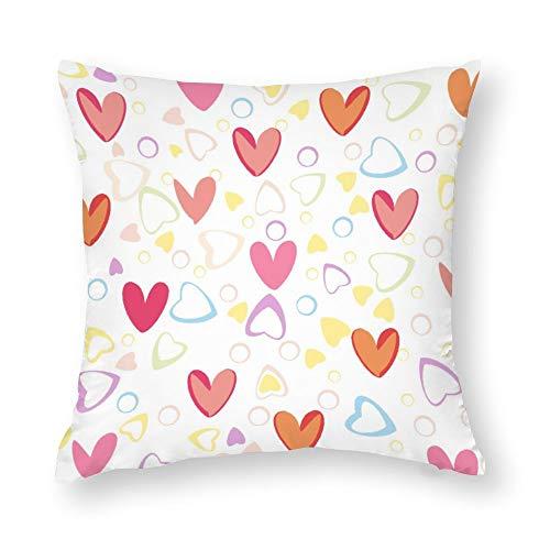 Fundas de almohada de 18 x 18 cm fundas de almohada de tamaño estándar de algodón con cremallera oculta moderna sin costuras, elegante, dulce, linda y colorida, patrón de granja, para sofá o dormitorio