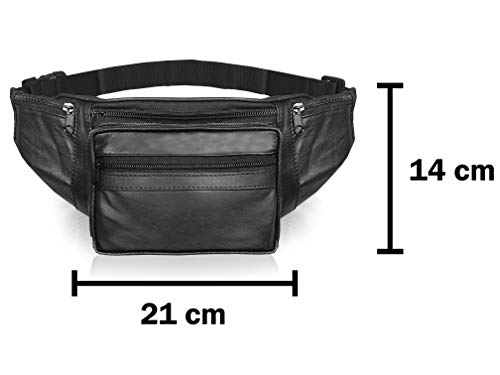 para viajes de vacaciones Roamlite Rl287K bolsa de goma resistente cintura extra grande de 51 pulgadas viajes y festivales Cintur/ón de piel para hombre con 7 bolsillos
