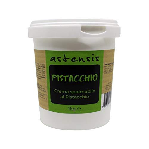 ASTENSIS Crema Spalmabile Gusto Pistacchio - 1 Kg - Adatta Per Dolci, Colazioni, Prodotti di...