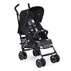 Recommended from 6 months to 15 kg body weight Ultra light and compact, it can be stored in the trunk. The backrest is adjustable in 2 different seat positions. Including rain cover and convertible top
