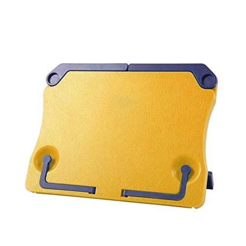 jidan Base Foldable Noten Stand Holder Tripod Musik-Blatt-Ständer tragbare verstellbare Falten Klavierpartitur Buchhalter Lesemusikinstrumente Zubehör (Color : Yellow)