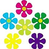 60 Pieces Flower Shaped Cutouts Mini Retro Flower...