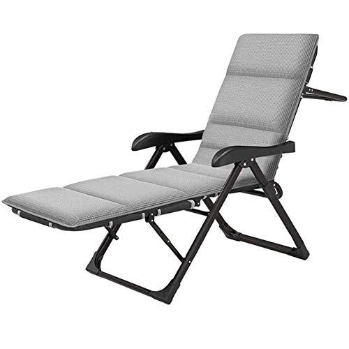 CXD Haushaltsprodukte Patio Lounge Recliners, Verstellbare Klapp-Liegestühle Atmungsaktive Outdoor-Liegestühle Mit Kissen Für Patio Wintergarten