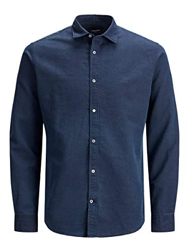 JACK & JONES Herren JPRBLUFANO Shirt L/S Hemd, Navy Blazer, XL
