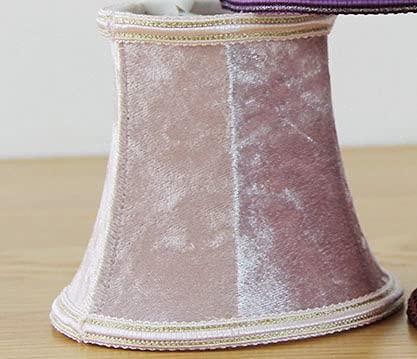 WNAVX Pantalla de araña de Color púrpura, Tapa de la lámpara de Pared thades Muchos Colores, Clip en (Body Color : Pink)