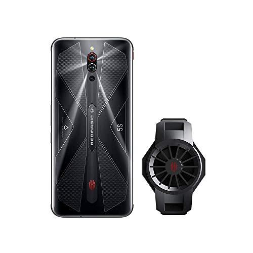 Nubia RedMagic 5S Gaming Phone 8GB RAM + 128GB ROM/Smartphones con Qualcomm Snapdragon 865 / 144Hz: Frecuencia de actualización 6.65 ″ Pantalla AMOLED/Cámara Triple de 64MP (Black) (móvil+Ice Dock)