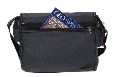 Elephant Kuriertasche Sahara Laptoptasche Canvas Tasche Bag 3692 Schwarz