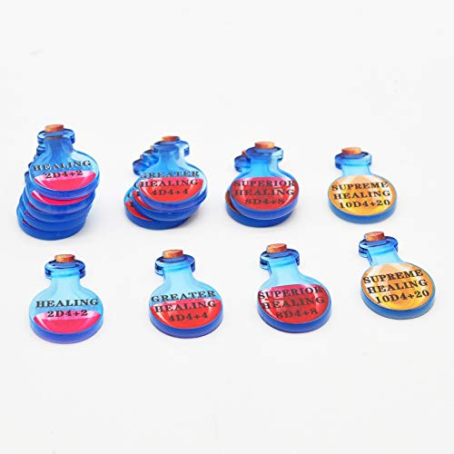 Healing Potion Tokens Acrylic Set of 15 DND Accessories for Dungeons and Dragons 5th Edition