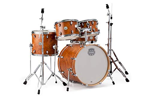 "Mapex ST5045FIC Storm 20"" Bass Drum 5-Piece Fusion Drum Set w/Hardware - Camphor Wood Grain w/Chrome"