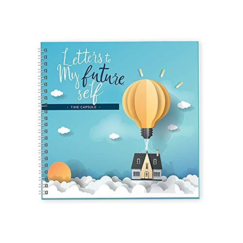 Letters To My Future Self Journal | Writing My Story While I Grow | 40 Pages 8X8 Hard Cover Journal Perfect For Kids Birthday Gifts | Journals To Write Down Your Life Ideas And Goals (Blue)