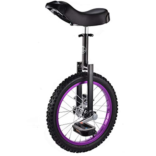 LFFME Monociclo De Altura Ajustable Ejercicio De Equilibrio De 16 Pulgadas Bicicleta Divertida Fitness con Sillín De Manija Carga 150Kg / 330Lbs,B