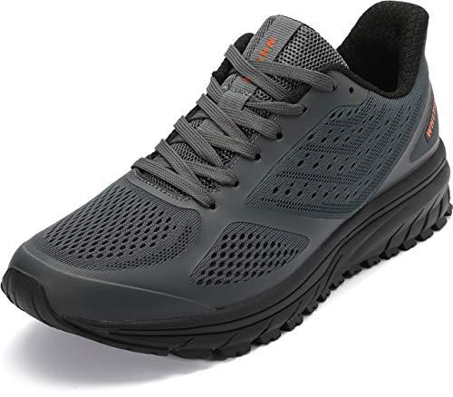 WHITIN Zapatillas de Deporte Hombres Mujer Calzado Deportivo Trail Running Trotar Trabajando Sneakers Gris 45