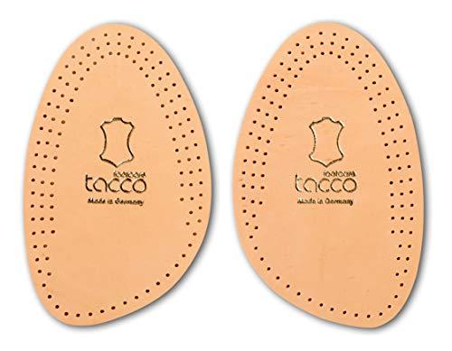 Tacco Light Leder Einlegesohlen halb & Vorfußpolster, Vorfuß Schuheinlagen aus Leder mit integriertem Aktivkohle Geruchsabsorber gegen Fußgeruch, Damen und Herren Schuhsohlen (37-38 EUR)