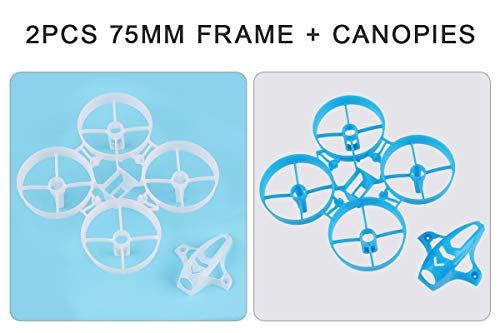 2PCS 75mm Whoop Frame Kit with Canopy for Tiny 7X RC FPV Racing Drone Quadcopter with 8020 Motors