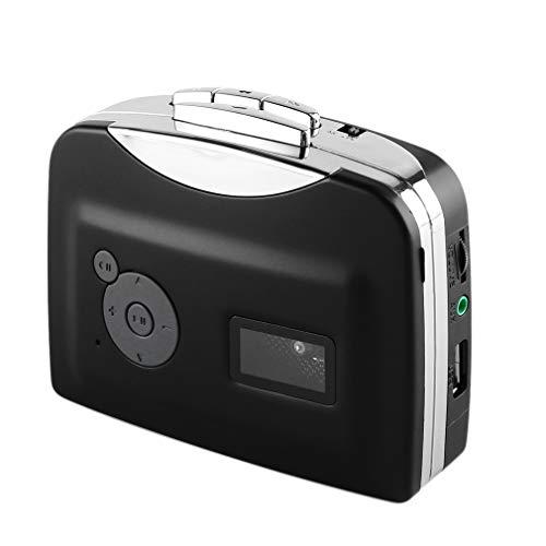 SNOWINSPRING Reproductor de Cassette Cinta una Unidad Flash USB Audio MP3 Formato Captura...
