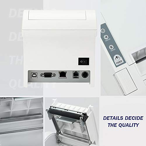 MUNBYN Impresora Térmica de 80mm 8 Puerto USB Serial Ethernet/LAN ...