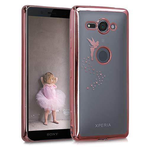 kwmobile Coque Compatible avec Sony Xperia XZ2 Compact - Coque Housse protectrice pour téléphone en Silicone Or Rose-Transparent