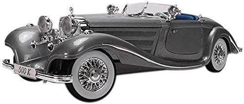 KCGNBQING Modelo de coche escala 1: 18 clásico retro de alta simulación juguete de coche, joyería estática de la colección de joyas como regalo, adornos de 29 x 11 x 7,5 cm, decoraciones de coche