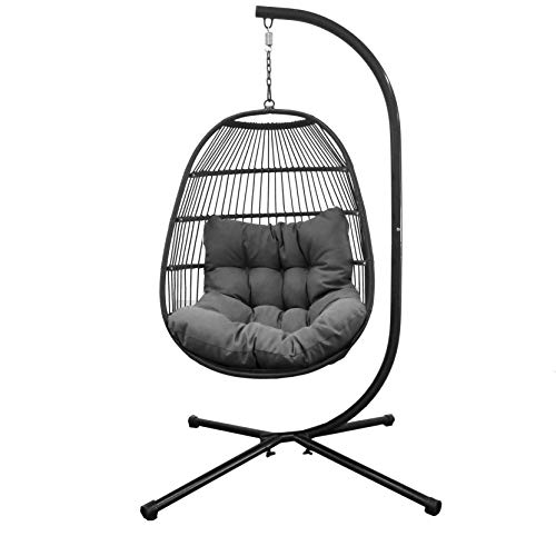 Luxury Hanging Swing Egg Chair With Thick Cushion & Pillow , Contemporary Design Great For Indoor Or Outdoor Use ,...