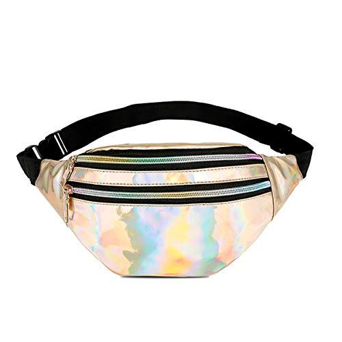 Gürteltasche Damen Bauchtasche Hüfttaschen Fanny Pack Waist Bag für Frauen (Gold Mode-Hüfttaschen)