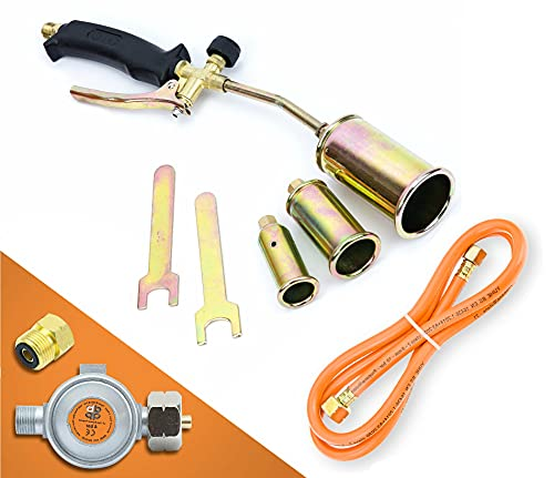 Gasbrenner Dachbrenner Gaslötgerät Abflammgerät Brenner Gasdruckregler SN0286R
