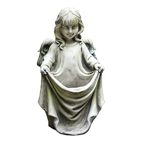 RENYY Decoración de Maceta de ángel Linda Multifuncional, Estilo Retro Simple, óxido de magnesio, Resistente a los Rayos UV y Duradero para Jardines, porches, dormitorios