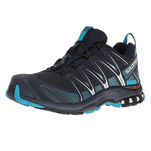 Salomon Men's XA Pro 3D GTX Trail Running Shoes, Navy Blazer/Hawaiian Ocean/DAWN BLUE, 12.5