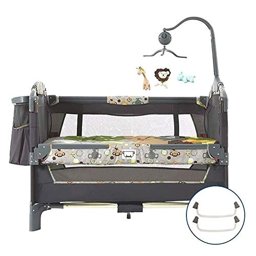 Lowest Prices! RRH-Cribs Travel Crib Multifunction Portable Game Thick Bed Fence Bionic Design Foldi...