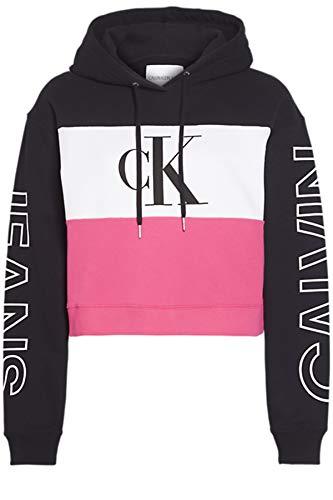 Calvin Klein Blocking Statement Logo Hoodie Suéter para Mujer