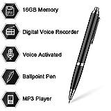 Aizhy, 16 GB de lápiz digital de grabadora de voz activada por voz, dictáfono, reproductor de MP3...