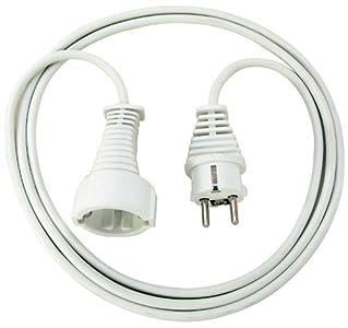 Brennenstuhl Cable alargador de corriente de 2 m (alargador eléctrico para interiores) blanco