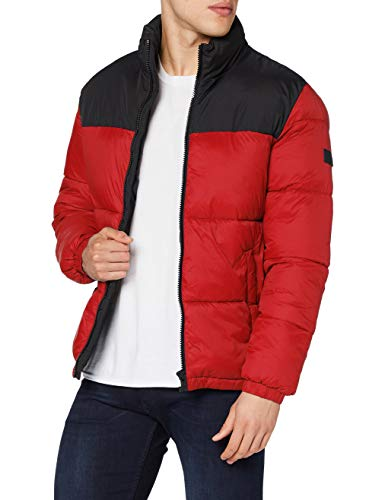 Jack & Jones JJDREW Puffer Collar Chaqueta, Tango Red, XL para Hombre
