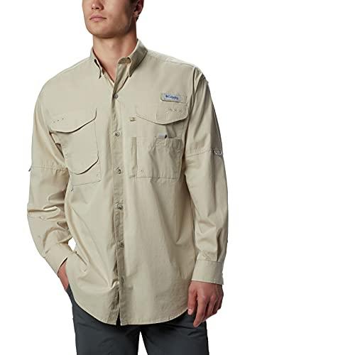 Columbia Men's Bonehead Long Sleeve Shirt, Fossil, XX-Small