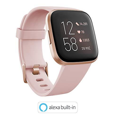 Fitbit Versa 2, Smartwatch con control por voz, puntuación del sueño y música, batería...