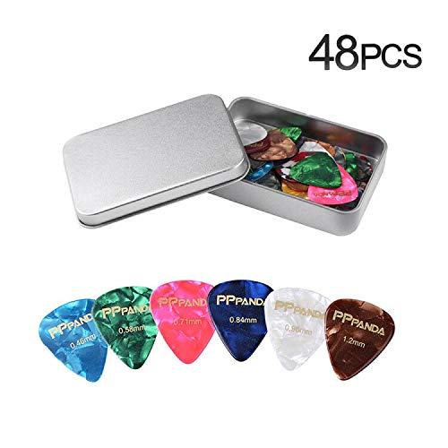 Guitar Picks 48pcs, PPpanda Guitar Plectrums For Your Electric, Acoustic,...