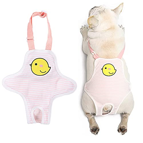 Dog Sanitary Panties Female Strap,Adjustable Cozy Underwear Diaper with Suspender,Pet Physiological Menstrual Cotton Briefs Breathable for Girl Dogs Teddy Corgi French Bulldog Puppy Machine Washable