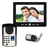 Leo2020 7 inch Video doorbell Telephone intercom System Fingerprint Recognition Remote Unlock Night Vision Function Home Monitoring