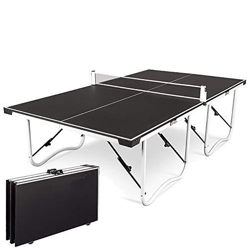 RSGK Tavolo da Ping-Pong Pieghevole, Tavolo da Ping-Pong familiare Pieghevole con puleggia, Tavolo da Ping-Pong Professionale per Adulti per Adulti e Genitori